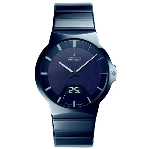 Junghans Force Herrenuhr Multifrequenz Funk-Solar Keramik 018/1133.44