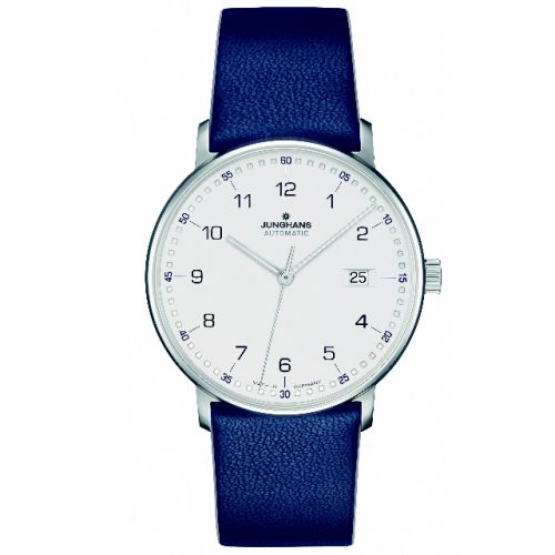Junghans Herrenuhr Automatic Form A mit Lederband 027/4735.00