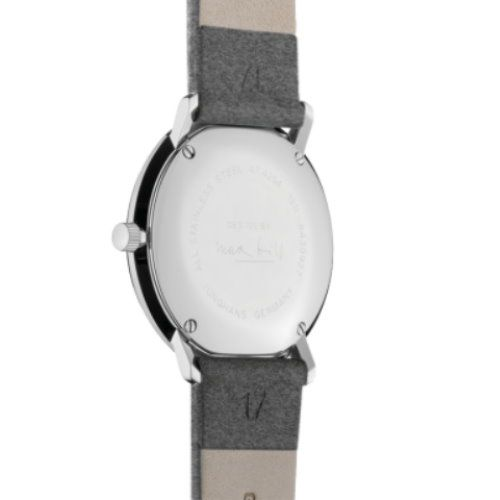 Max Bill by Junghans Damenuhr Quarz mit Lederband 047/4542.00